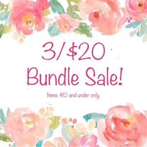 🌸 3/$20 Bundle Sale! 🌸